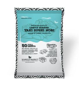 50 Full Sheets Nori Seaweed Market - European supplier