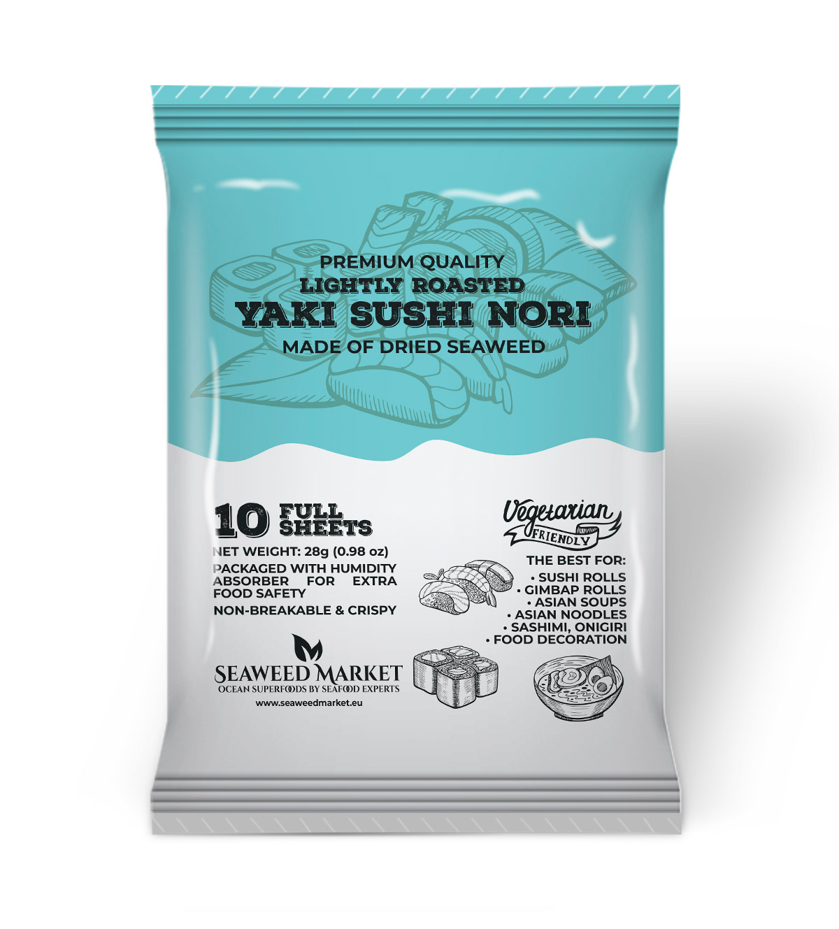 10 Full Sheets Nori Seaweed Market - European supplier