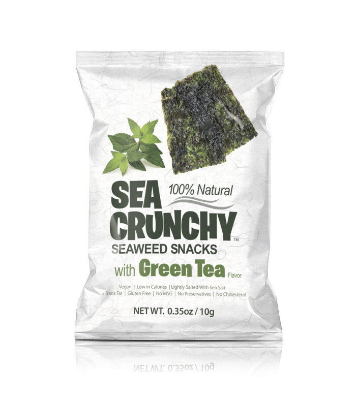 SEA CRUNCHY Seaweed Snacks with green tea image.