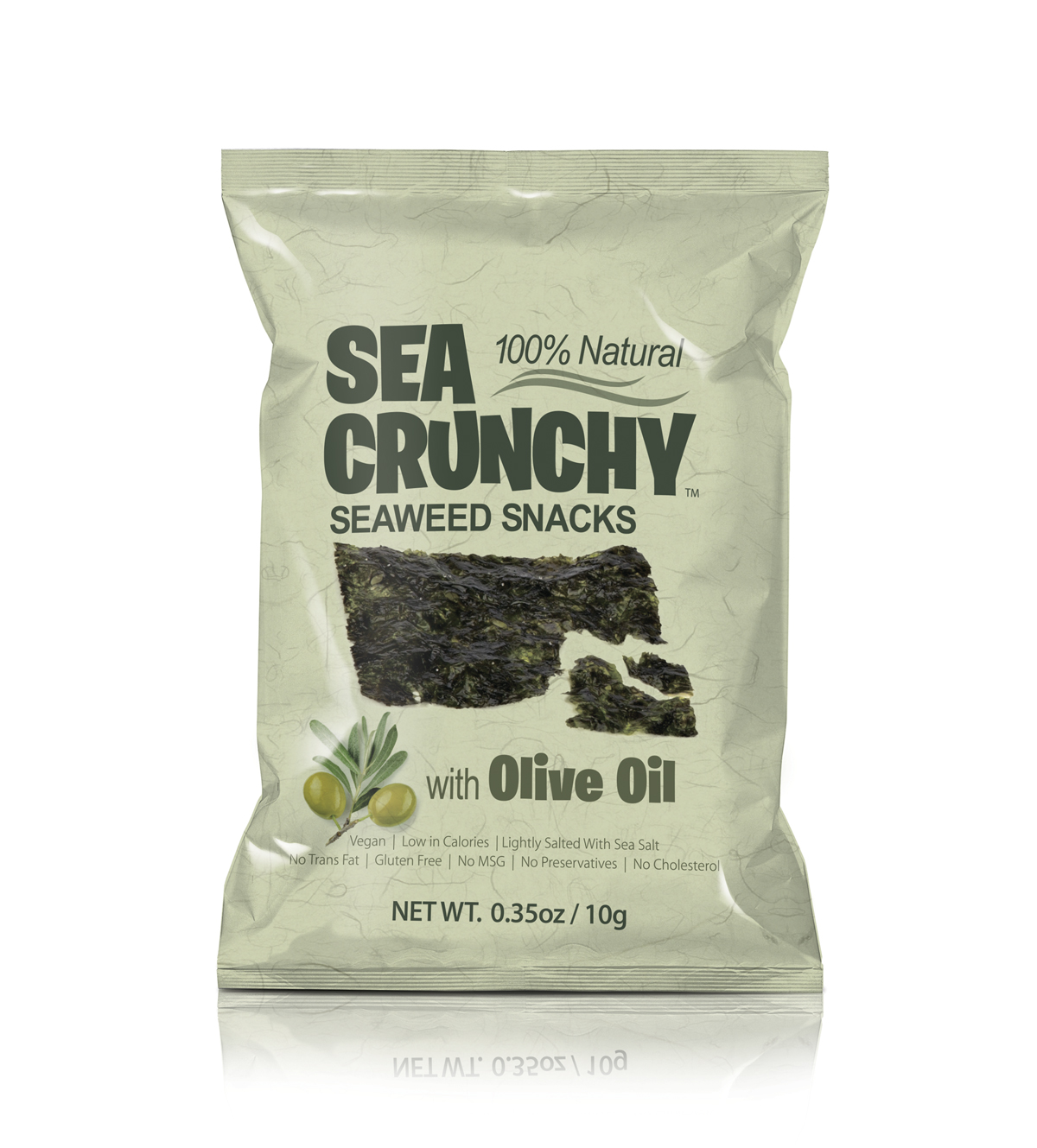 SEA CRUNCHY Seaweed Snacks with olive oil image.