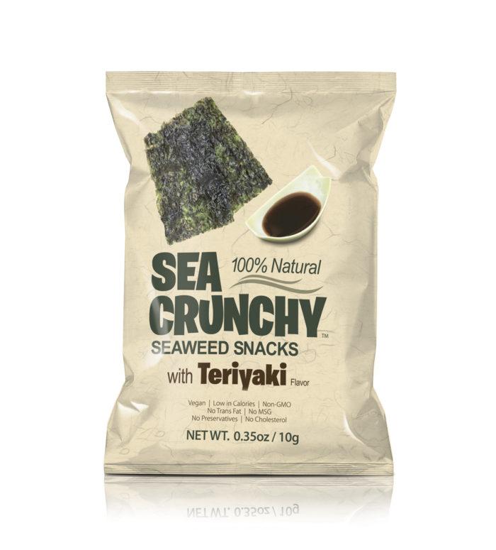 SEA CRUNCHY Seaweed Snacks with teriyaki sauce image.