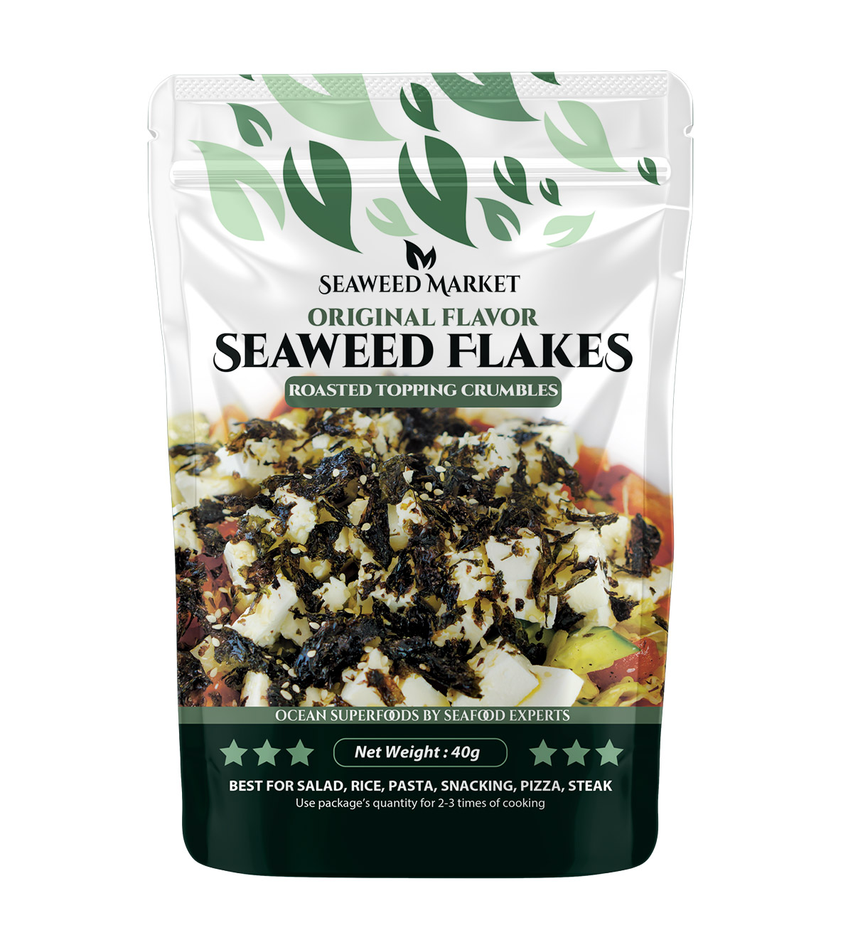 Seaweed Flakes or topping crumbles for cooking salads, rice, bbq, pasta and other dishes picture
